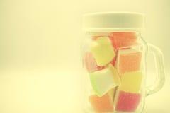 Gelée colorée dans le style de doux et de tache floue Photo libre de droits