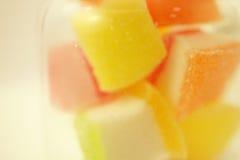 Gelée colorée dans le style de doux et de tache floue Image stock