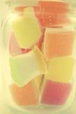 Gelée colorée dans le style de doux et de tache floue Photos libres de droits