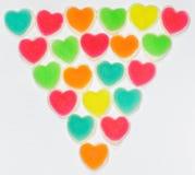 Gelée colorée de signe de coeur Photos libres de droits