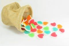 Gelée colorée de signe de coeur Photographie stock libre de droits