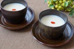 Gelée d'amande, dessert de chinois traditionnel Photos stock