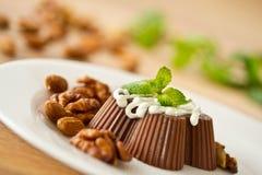 Gelée d'arachide de chocolat photos libres de droits