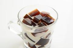 Gelée de café avec du lait image libre de droits