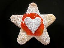 Gelée de fraise de Noël/Pâques/célébration/biscuit de bourrage Photos stock