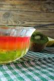 Gelée de fruit et fruit photographie stock