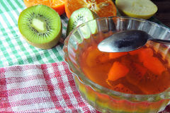 Gelée de fruit et fruit images stock