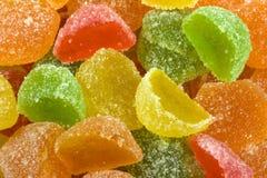 Gelée de fruit lumineuse multicolore de sucre Photographie stock libre de droits