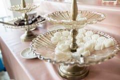 Gelée de noix de coco sur la table photographie stock libre de droits