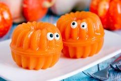 Gelée de potiron - amusement et dessert sain de Halloween images libres de droits