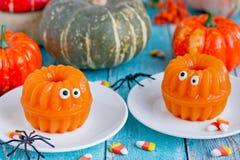 Gelée de potiron - amusement et dessert sain de Halloween photo stock