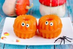 Gelée de potiron - amusement et dessert sain de Halloween photographie stock