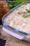 Gelée de viande de poulet de Holodets dans un plat en verre image stock