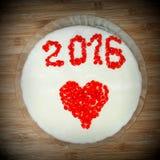 Gelée du dessert de nouvelle année avec une inscription 2016 Images libres de droits