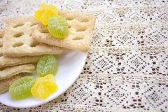 Gelée et biscuits de fruit Photos libres de droits