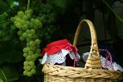 Gelée et raisins de raisin images libres de droits