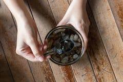 Gelée noire Photos stock