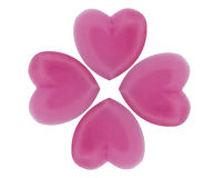 Gelée rose de forme de coeur de couleur Photo libre de droits