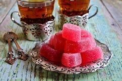 Gelée rose de sucrerie photo libre de droits