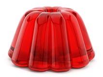 Gelée rouge d'isolement sur le fond blanc illustration 3D illustration de vecteur