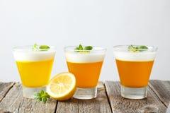 Gelée savoureuse de citron images libres de droits