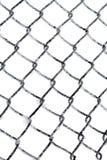 Gelée sur la barrière de maillon de chaîne Photographie stock libre de droits