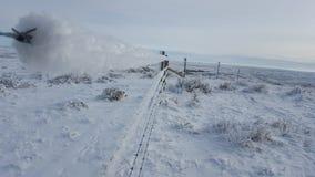 Gelée sur une barrière de Saskatchewan Photos libres de droits
