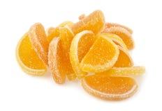 geléer för datalista för bakgrundsgodisar göra gelé av citrus isolerade frukt vita lobules Royaltyfria Bilder