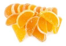 geléer för datalista för bakgrundsgodisar göra gelé av citrus isolerade frukt vita lobules Arkivbilder
