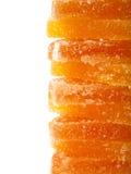 geléer för datalista för bakgrundsgodisar göra gelé av citrus isolerade frukt vita lobules Royaltyfri Fotografi