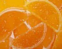 geléer för datalista för bakgrundsgodisar göra gelé av citrus isolerade frukt vita lobules Fotografering för Bildbyråer