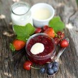Geléia de fruta vermelha Imagem de Stock Royalty Free
