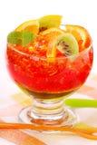 Geléia de três cores com frutas Imagens de Stock Royalty Free