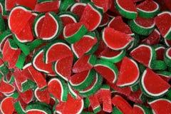 Geléias da melancia fotografia de stock
