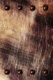 Gelöscht Metallplatten gefärbt Stockbilder