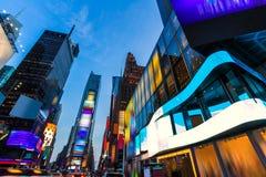 Gelöschte Anzeigen Times Square-Manhattans New York Stockfoto