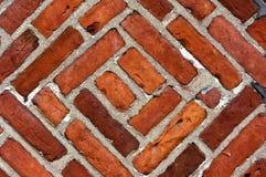 Gelöschte Backsteinmauer Stockfotografie