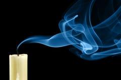 Gelöschte Kerze lizenzfreies stockbild