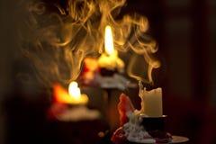 Gelöschte Kerze Stockfoto