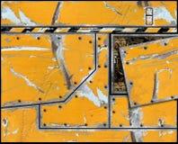 Gelöschter gemalter Metallplattenrumpf vektor abbildung