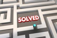 Gelöster Maze Problem Solution Lizenzfreie Stockfotografie