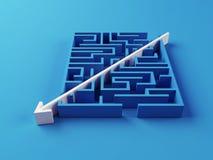 Gelöstes Labyrinthpuzzlespiel Lizenzfreie Stockfotografie