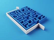 Gelöstes Labyrinthpuzzlespiel Lizenzfreie Stockfotos