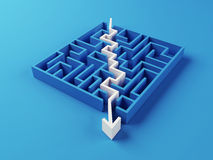 Gelöstes Labyrinthpuzzlespiel Stockbild