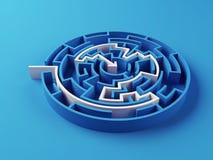 Gelöstes Labyrinthpuzzlespiel Lizenzfreies Stockfoto