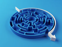 Gelöstes Labyrinthpuzzlespiel Lizenzfreies Stockbild