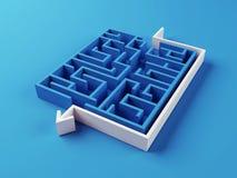 Gelöstes Labyrinthpuzzlespiel Stockfotografie