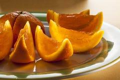 Gel anaranjado con la vodka Fotografía de archivo