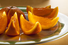 Gel arancio con vodka Fotografia Stock
