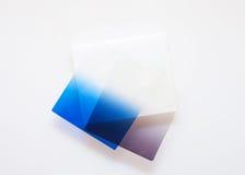 Gel blu e grigio della lente immagini stock libere da diritti